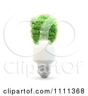 Clipart 3d Spiral Light Bulb Made Of Leaves Royalty Free CGI Illustration
