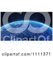 Clipart 3d View Of Europe At Night From Outer Space Royalty Free CGI Illustration by Mopic