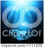 Clipart 3d Mysterious Hand With Glowing Light In Its Palm 2 Royalty Free CGI Illustration