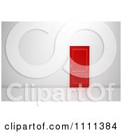 Clipart 3d Red Door In A Wall Royalty Free CGI Illustration
