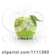 Clipart 3d Carved Green Apple With A World Map Royalty Free CGI Illustration by Mopic