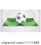 Clipart 3d Soccer Ball On A Field 2 Royalty Free CGI Illustration