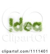 Clipart 3d Grass Forming Idea And An Exclamation Point Royalty Free CGI Illustration