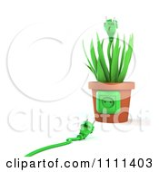 Clipart 3d Cable By A Socket On A Plug Plant Pot Royalty Free CGI Illustration