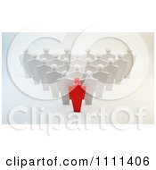 Clipart 3d Red Leader And Team Royalty Free CGI Illustration by Mopic