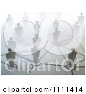 Clipart 3d People On Network Pods Royalty Free CGI Illustration by Mopic