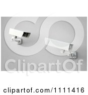 Clipart 3d Security Surveillance Cameras Viewing Each Other Royalty Free CGI Illustration