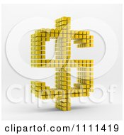 Clipart 3d Gold Cubes Forming A Dollar Currency Symbol Royalty Free CGI Illustration