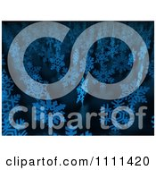 Clipart 3d Blue Snowflakes In Rows Royalty Free CGI Illustration