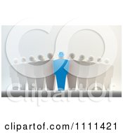 Clipart 3d Blue Leader And Team Royalty Free CGI Illustration by Mopic