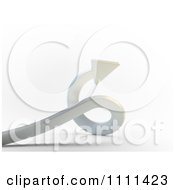 Clipart 3d Twisting Arrow Royalty Free CGI Illustration