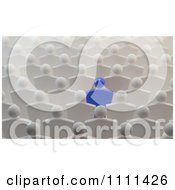 Clipart 3d Blue Person Standing Out In A Crowd Of White People Royalty Free CGI Illustration by Mopic