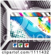 Clipart Movie Film Strip Cinema Background 2 Royalty Free Vector Illustration