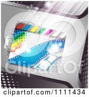 Clipart Movie Film Strip Cinema Background 7 Royalty Free Vector Illustration