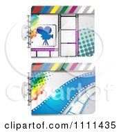 Clipart Movie Film Strip Cinema Backgrounds 1 Royalty Free Vector Illustration