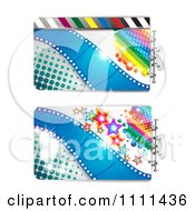 Clipart Movie Film Strip Cinema Backgrounds 2 Royalty Free Vector Illustration