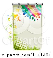 Clipart Page Of Halftone Rainbow And Butterflies Royalty Free Vector Illustration