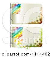 Clipart Pages Of Halftone Rainbows And Butterflies 1 Royalty Free Vector Illustration