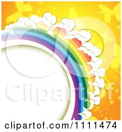 Background Of Butterflies And A Rainbow 11