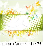 Clipart Background Of Butterflies Halftone And Copyspace Royalty Free Vector Illustration