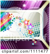 Background Of Stars Rainbow Dew Light And Halftone