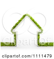 Clipart 3d Border Of Leaves Around A Home Royalty Free CGI Illustration by Mopic