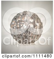 Clipart 3d Glowing Sphere Composed Of Letters And Numbers Royalty Free CGI Illustration by Mopic