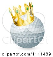 Clipart 3d Crowned Golf Ball Royalty Free Vector Illustration