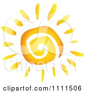 Clipart Spiral Sun Royalty Free Vector Illustration by Hit Toon