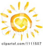 Clipart Spiral Heart Sun Royalty Free Vector Illustration