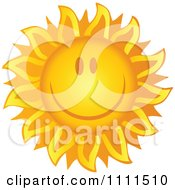 Cheerful Sun Grinning by Hit Toon
