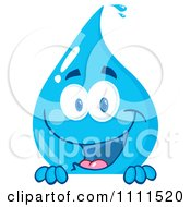 Water Drop Smiling Over A Sign by Hit Toon