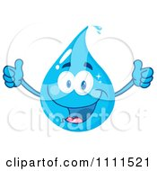 Water Drop Holding Two Thumbs Up by Hit Toon