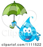 Water Drop Holding An Umbrella by Hit Toon