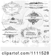 Clipart Hand Drawn Wedding Design Elements And Swirls Royalty Free Vector Illustration by BestVector