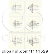 Clipart Ornate Swirl Borders And Sample Text On Beige Royalty Free Vector Illustration