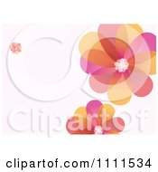 Colorful Flower Background With Copyspace 2