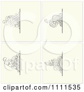 Clipart Ornate Swirl Borders And Copyspace On Beige Royalty Free Vector Illustration