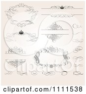 Clipart Ornate Swirl Frames And Design Elements On Gradient Royalty Free Vector Illustration by BestVector