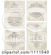 Clipart Ornate Swirl Frames On Grungy Beige Royalty Free Vector Illustration