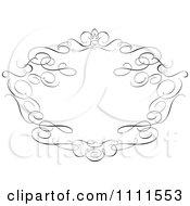 Clipart Ornate Black Swirl Frame On White Royalty Free Vector Illustration
