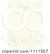 Clipart Gray Love And Swirl Frame On Beige Royalty Free Vector Illustration