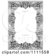 Clipart Ornate Black And White Victorian Frame With Copyspace Royalty Free Vector Illustration