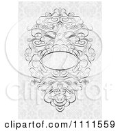 Clipart Ornate Swirl Frame On Gray Floral Royalty Free Vector Illustration