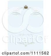 Clipart Brown Swirl Crown Borders On Pastel Blue Royalty Free Vector Illustration by BestVector