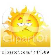 Clipart Grumpy Sun Mascot 2 Royalty Free Vector Illustration
