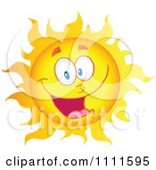 Clipart Cheerful Sun Mascot Royalty Free Vector Illustration