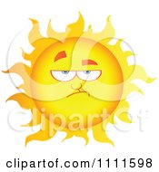 Clipart Grumpy Sun Mascot 1 Royalty Free Vector Illustration by Hit Toon