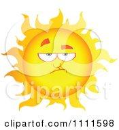 Grumpy Sun Mascot 1