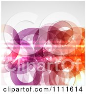 Clipart Background Of Gradient Rings With Flares On Gray Royalty Free Vector Illustration by KJ Pargeter